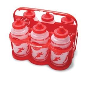 Collapsable Bottle Carrier w/ 6 Bottles