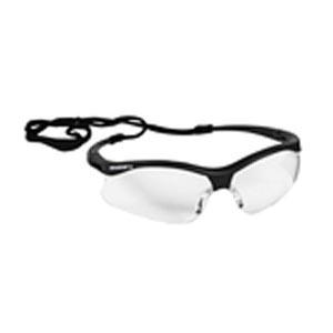 Jackson Safety Glasses, Clear Hard Coat Lens, Black Frame with Black Tips, 12/cs