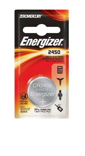 Energizer ECR2450BP Battery Lithium 3V Coin Cell 6/bx