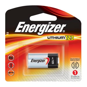 Energizer EL123APBP Battery Lithium Size 17 x 34.5 6/pk 4 pk/cs