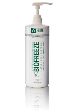 Hygenic 13431 Biofreeze Professional 32 oz Gel Pump Colorless 16/cs