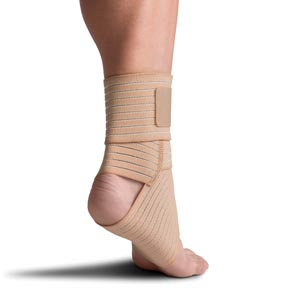 Elastic Ankle Wrap, Small/ Medium, Gray