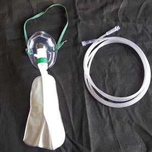 Oxygen Mask, Total Non-Rebreather w/bag, Pediatric, Elongated, 7' Star Tubing, 50/cs