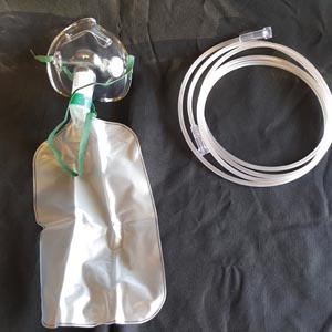Oxygen Mask, Partial Non-Rebreather w/bag, Adult, Standard, 7' Star Tubing, 50/cs