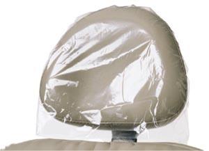 "Headrest Covers, 9.5"" x 11"", Clear, Plastic, 250/bx, 4 bx/cs"
