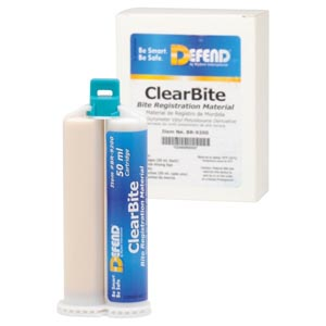 ClearBite. Unflavored. 2x50 mL cartridges + 6 pink mixing tips/bx,  10 bx/cs