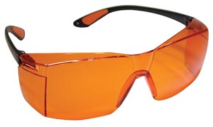 UV Protective Eyewear, Curing & Bonding, Orange, 1/bx