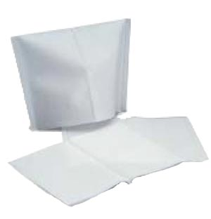 "Headrest Covers, 10"" x 10"",  Tissue/Poly, White, 500/cs"