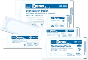 "Self-Seal Sterilization Pouch, 2.25"" x 4"", 200/bx, 20 bx/cs"