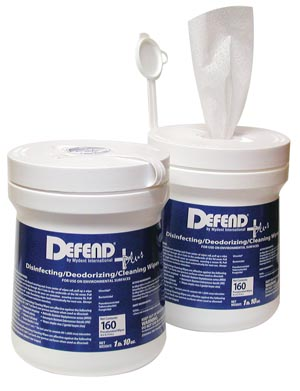 "Disinfecting Wipes, Large, 6"" x 6"" sheets, 160/tub, 12 tubs/cs"