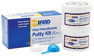 Vinyl Polysiloxane Putty Kit-Regular Set. Includes 2x300 mL jars + 2 scoops