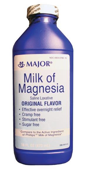 Milk of Magnesia, 16 oz, NDC# 00904-0788-16