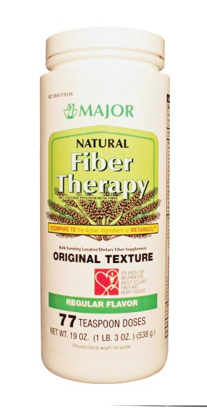 Natural Fiber Therapy, 538gm, Regular Flavor, Compare to Metamucil, NDC# 00904-5199-66