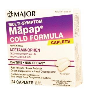 Mapap, Cold Multi-Symptom, 24s, Compare to Tylenol Multi-Sympton, NDC# 00904-5786-24