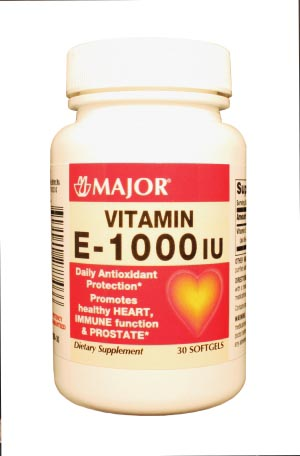 Vitamin E, 1000 IU, SoftGel Caplets, 30s, NDC# 00904-0722-46