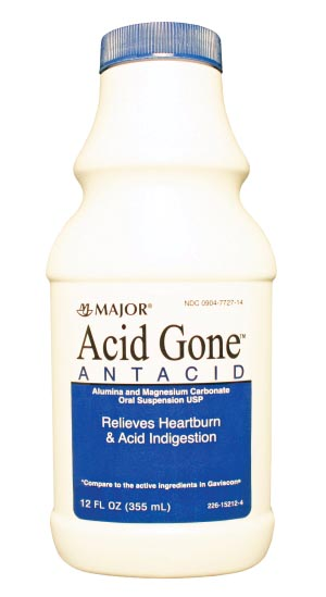 Acid Gone, Liquid, 12 oz, Compare to Gaviscon, NDC# 00904-7727-14