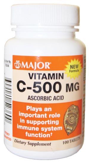 Vitamin C, 500mg, Tablets, 100s, NDC# 00904-0523-60