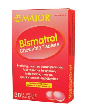 Bismatrol, Chewable Tablets, 30s, Compare to Pepto-Bismol, NDC# 00904-1315-46