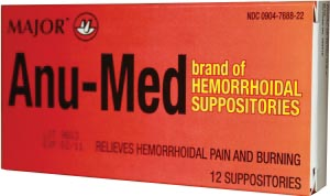 Anu-Med Suppositories, 12s, NDC# 00904-7688-22