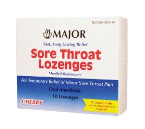 Sore Throat Lozenge, Cherry, Compare to Cepacol, NDC# 00904-6255-49