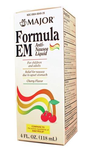 Formula EM  Liquid, 120mL, Compare to Emetrol, NDC# 00904-0049-20