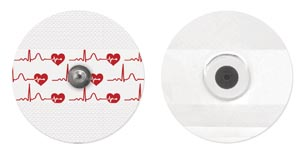 Bio ProTech  T815-5 Electrode Cloth Adult Round 55mm General Purpose Stress & Holter 5/pch 200 pch/bx