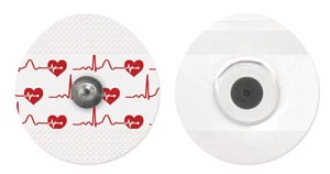 Bio ProTech  T816-30 Electrode Cloth Adult Oval 43mm x 45mm General Purpose Stress & Holter 30/pch 200 pch/bx