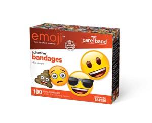 """ASO 184256 Emoji Adhesive Bandages 3/4 x 3"""" Strips 100/bx 12bx/cs"""