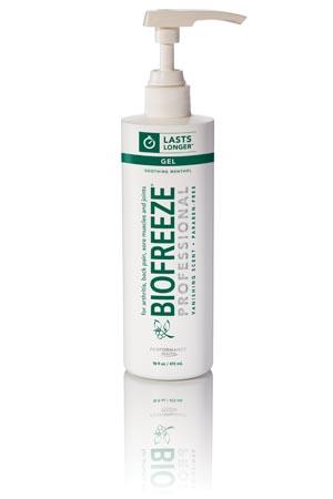 Hygenic 13425 Biofreeze Professional 16 oz Gel Pump Green 24/cs