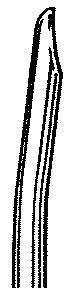 Busse 279 Uterine Curette, 7mm Curved, Regular Tip, Sterile, 25/cs