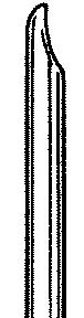 Busse 133 Uterine Curette, 7mm Straight, Regular Tip, Sterile, 25/cs