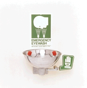 Desert Assembly Opti-Klens Wall Mounted Eyewash Each 469022 By Desert Assembly