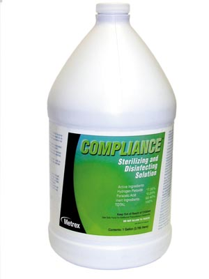Metrex Compliance Sterilizing & Disinfection Solution Case 10-2500 By Metrex Res