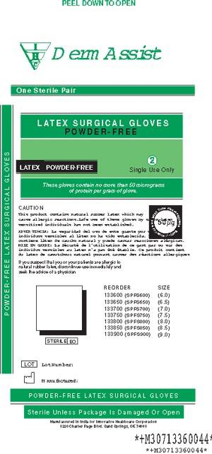 INNOVATIVE DERMASSIST SURGICAL POWDER-FREE GLOVES: preorder IHC 133850 cs                                      $93.06 Stocked