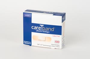 Aso Careband Sheer Adhesive Strip Bandages Case CBD2018 by ASO
