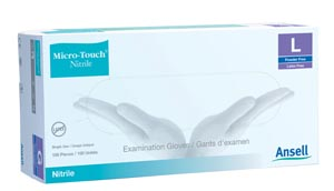 Ansell Micro-Touch� Nitrile Powder-Free Synthetic Medical Examination Gloves  6034300 By Ansell Item No.: Mp-Ans 6034300 Category: Gloves:Nitrile/Synthetic:Exam/Non- Sterile Item Description: Exam