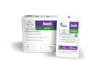 ANSELL ENCORE POWDER-FREE STERILE SURGICAL GLOVES: preorder ANS 5785003 cs                                      $257.40 Stocked