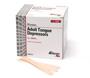 "Tongue Depressor, Adult 6"" x 11/16"", Sterile, 1/pk, 100 pk/bx, 10 bx/cs"
