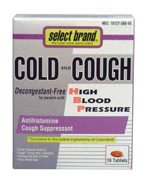Saj Select Brand Cough & Cold Tablet Case 8580698 By Saj Distributors