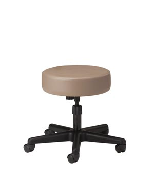 Stool, Screw Adjustable, Black Nylon Base