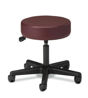 Stool, Pneumatic, Black Nylon Base