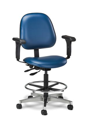 Lab Stool, Contour Seat & Arms