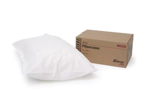 "Pillowcase, Tissue/ Poly, 21"" x 30"", White, 100/cs"