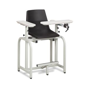 Extra Tall Blood Draw Chair, Flip-Arm, Plastic Seat