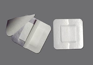 "Waterproof Composite Dressing, 6"" x 6"" with 4"" x 4"" Pad, 10/bx"