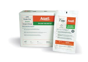 ANSELL ENCORE MICROPTIC POWDER-FREE LATEX SURGICAL GLOVES: preorder ANS 5787005 cs                                      $257.40 Stocked