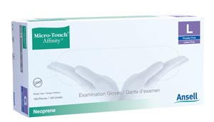 ANSELL MICRO-TOUCH AFFINITY SYNTHETIC EXAM GLOVES: preorder ANS 3773 cs