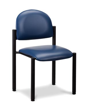 Black Frame Chair, No Arms, Black Powder Coated Frame Finish