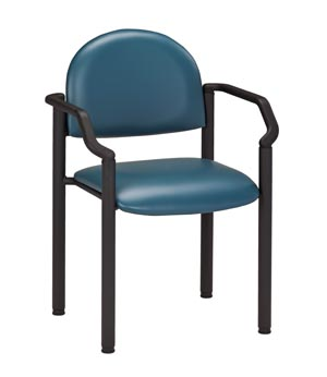 Black Frame Chair, Arms, Black Powder Coated Frame Finish