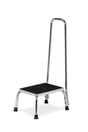 """Step Stool, 7/8"""" Dia Handrail, 350 lbs Capacity"""